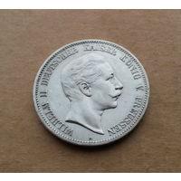 Пруссия/Германская империя, 5 марок 1908 г., серебро, Вильгельм II (1888-1918)