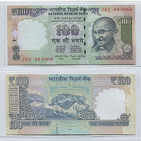 Распродажа коллекции. Индия. 100 рупий 2014 года (P-105n - 2011-2018 New Rupee Symbol Issue)
