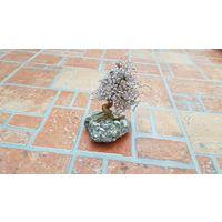 Оригинальная композиция Дерево из камня / для интерьера / высота 10 см