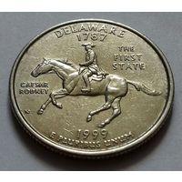 25 центов, квотер США, штат Делавэр, P