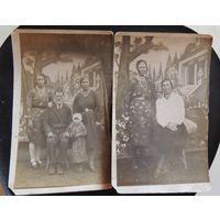 """Фото """"Семья"""", Брест-Литовск, 1930-гг.(2 шт.)"""