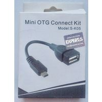 USB - Mini USB. Кабель новый. MiniUSB OTG Connect Kit. Experts S-K05