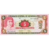 Никарагуа, 5 кордоба, 1995 г., UNC