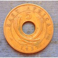Восточная Африка Британская колония 5 центов 1937