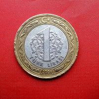 97-06 Турция, 1 лира 2009 г.