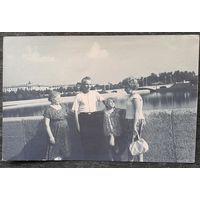 Фото. Минск. Вид на мост через Свислочь и парк им.Горького. Конец 1950-начало 1960-х. 9х14 см