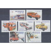 [1461] Никарагуа 1985. Пожарные автомобили.