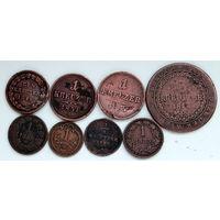 Лот монет (8 шт) Крейцеры 1