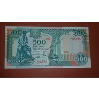 Банкнота 500 шилингов Сомали 1989
