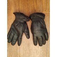 Перчатки зимние кожа