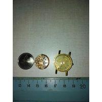 Часы швейцарские Омега позолоченные не рабочие, под реставрацию