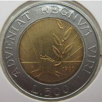 Сан-Марино 500 лир 1993 г. В холдере (gk)