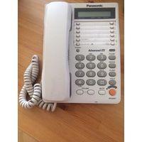 Телефон стационарный Panasonic, цвет светло-серый, множество функций. Размер 23 на 17 см. Состояние хорошее.