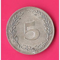 41-35 Тунис, 5 миллимов 1983 г.