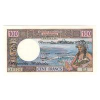 Новые Гебриды 100 франков 1970 года. Состояние UNC! Редкая!