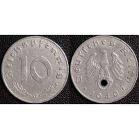 YS: Германия, Третий Рейх, 10 рейхспфеннигов 1940J, КМ# 101