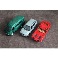 Модели автомобилей Газель, БМВ и Шевроле Корвет, состояние на фото.