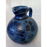 Керамическая ваза, кобальт, Германия, 13 см.