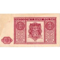 Польша, 1 злотый, 1946 г.