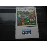 Марка - Чехия, фауна, насекомые, жуки, бабочки