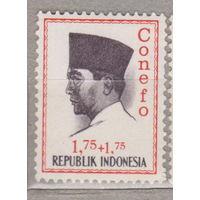 Известные люди президент Сукарно Индонезия 1965 год лот 1012 ЧИСТАЯ