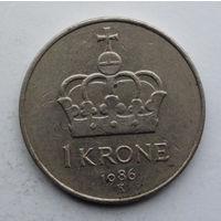 Норвегия 1 крона. 1986