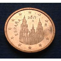 Испания 2 евроцента 2017