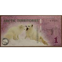 Арктические территории 1 полярный доллар 2012 год UNC  распродажа