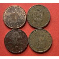 Евроценты 2ц - 4 стран