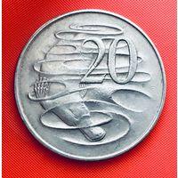 13-28 Австралия, 20 центов 1966 г.