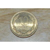 Чили 10 песо 2003