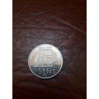 СЕН- ПЬЕР И МИКЕЛОН 5 франков 2013 год