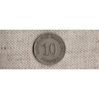 Германия 10 пфеннигов 1900А(Ab)