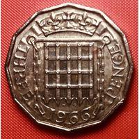 24-23 Великобритания, 3 пенса 1966 г.