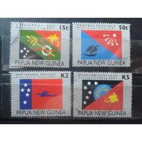 Папуа Новая Гвинея 2001 Флаги провинций Михель-6,4 евро гаш