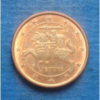 Литва 1 евроцент 2016