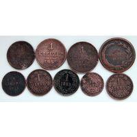 Лот монет (9 шт) Крейцеры 2