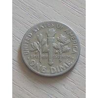 США 10 центов/дайм/ 1972г. б/б