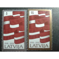 Латвия 1993 нац. флаг полная серия