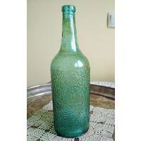 Бутылка Гродненский стеклозавод 40-50 гг., модель довоенная, без сколов и трещин, высота 26 см., 0.7 или 1 литр