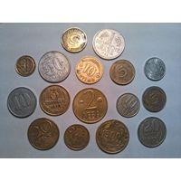 Монеты разных стран одним лотом.