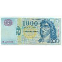 """Венгрия, 1000 форинтов 2000 год. """"МилленниуМ"""""""