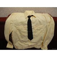 Офицерская рубашка с галстуком,ВМФ времен СССР.