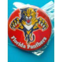"Значок с Логотипом Хоккейного Клуба НХЛ - ""Флорида Пантерз""."