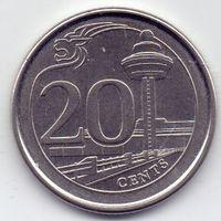 Сингапур, 20 центов 2015 года.