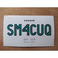 QSL-карточка из Швеции, 1961 год.
