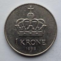 Норвегия 1 крона. 1988