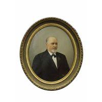 "Картина старинная ""Портрет неизвестного господина"". 19 век. Холст, масло. Антикварная"