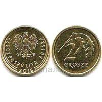 Польша 2 гроша 2016 знак МД - крест