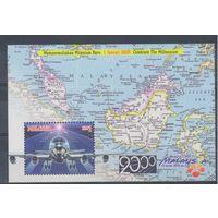 [962] Малайзия 2000. Авиация,самолет.  БЛОК.